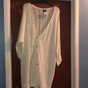 Button down ivory cardigan